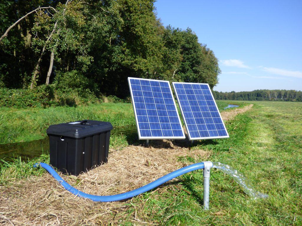 Plas Dras systeem op zonne-energie