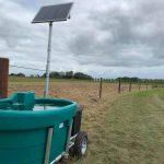 Weidedrinkbak op zonne-energie