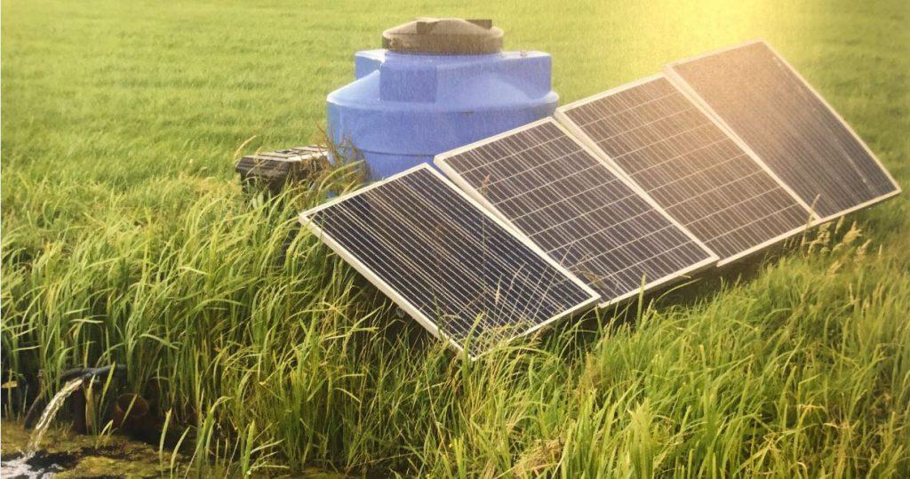 Peilgestuurde drainage op zonne-energie